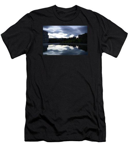 Blue Visions 1 Men's T-Shirt (Slim Fit) by Teo SITCHET-KANDA
