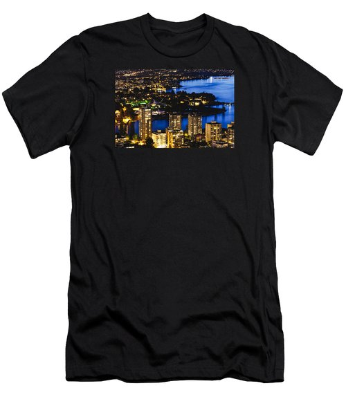 Men's T-Shirt (Slim Fit) featuring the photograph Blue Water Kitsilano Beach Mcdix by Amyn Nasser