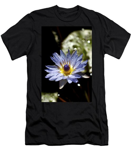 Men's T-Shirt (Slim Fit) featuring the photograph Waterlily After The Rain ... by Lehua Pekelo-Stearns