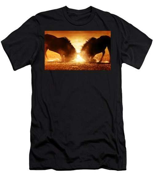 Blue Wildebeest Dual In Dust Men's T-Shirt (Athletic Fit)