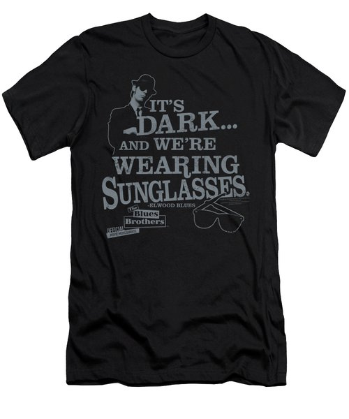 Blues Brothers - Its Dark Men's T-Shirt (Athletic Fit)