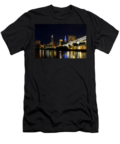 Blues In Cleveland Ohio Men's T-Shirt (Athletic Fit)