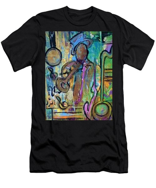 Blues Jazz Club Series Men's T-Shirt (Athletic Fit)