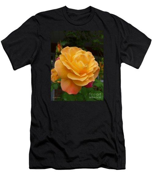 Men's T-Shirt (Slim Fit) featuring the photograph Blushing Rosalina by Lingfai Leung