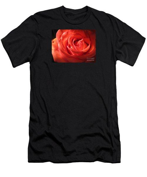 Blushing Orange Rose 1 Men's T-Shirt (Athletic Fit)