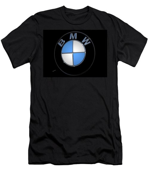 Bmw Emblem Men's T-Shirt (Slim Fit) by DigiArt Diaries by Vicky B Fuller