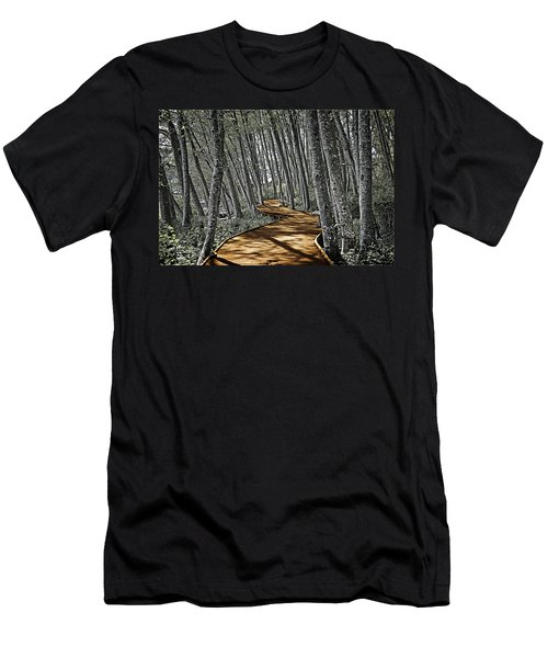 Boardwalk In The Woods Men's T-Shirt (Athletic Fit)