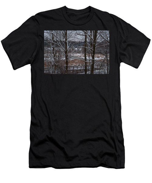 Men's T-Shirt (Slim Fit) featuring the photograph Boardwalk Series No3 by Bianca Nadeau