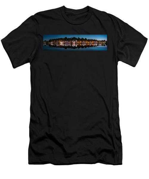 Boathouse Row Panorama Men's T-Shirt (Athletic Fit)