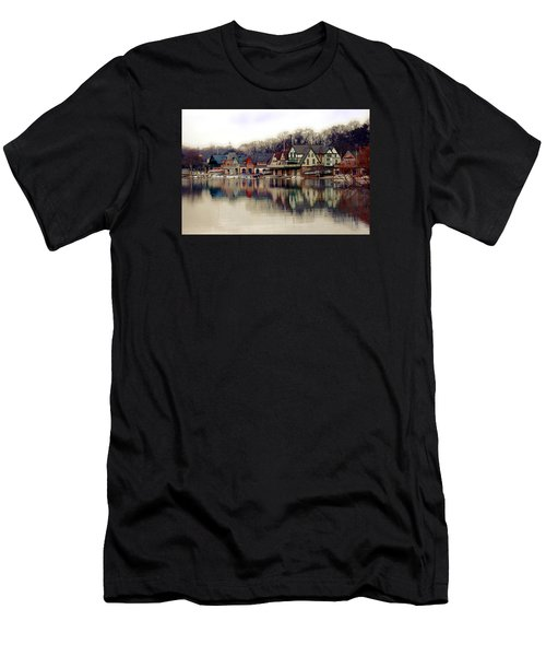 Boathouse Row Philadelphia Men's T-Shirt (Athletic Fit)