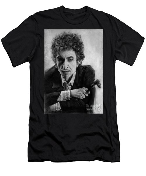 Bob Dylan Men's T-Shirt (Slim Fit) by Andre Koekemoer