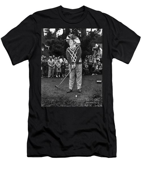 Bob Hope At Bing Crosby National Pro-am Golf Championship  Pebble Beach Circa 1955 Men's T-Shirt (Athletic Fit)