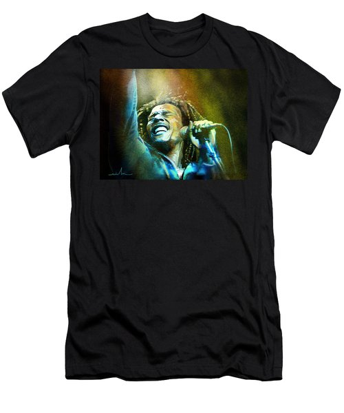 Bob Marley 06 Men's T-Shirt (Athletic Fit)