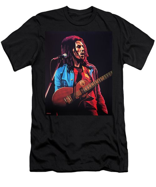 Bob Marley 2 Men's T-Shirt (Athletic Fit)