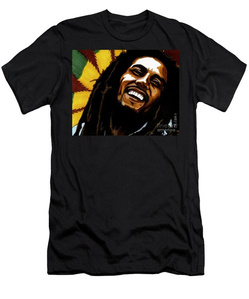 Bob Marley Rastafarian Men's T-Shirt (Athletic Fit)
