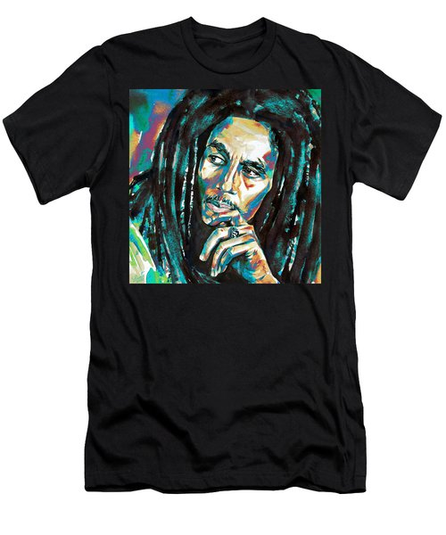 Bob Marley Watercolor Portrait.7 Men's T-Shirt (Athletic Fit)