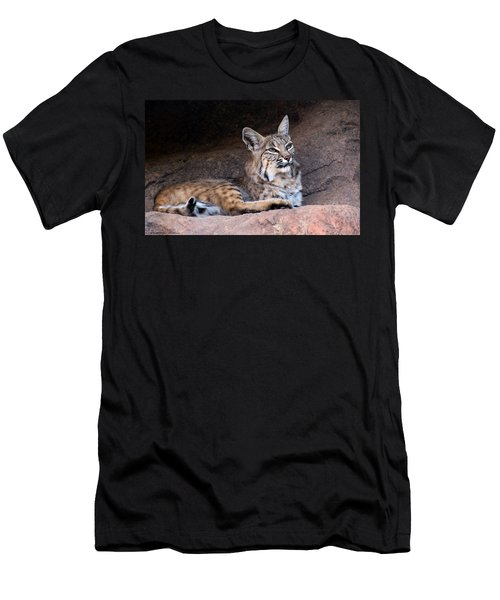 Men's T-Shirt (Slim Fit) featuring the photograph Hmm What To Do by Elaine Malott