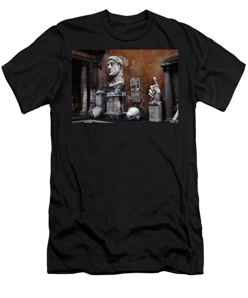 Body Parts The Colossus Of Constantine Rome Men's T-Shirt (Slim Fit) by Tom Wurl