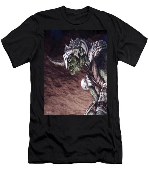 Men's T-Shirt (Slim Fit) featuring the mixed media Bolg The Goblin King 2 by Curtiss Shaffer