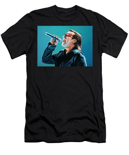 Bono Of U2 Painting Men's T-Shirt (Slim Fit) by Paul Meijering