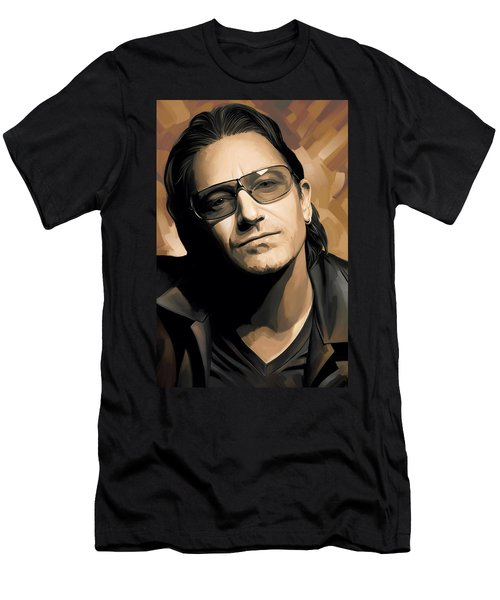 Bono U2 Artwork 2 Men's T-Shirt (Slim Fit)