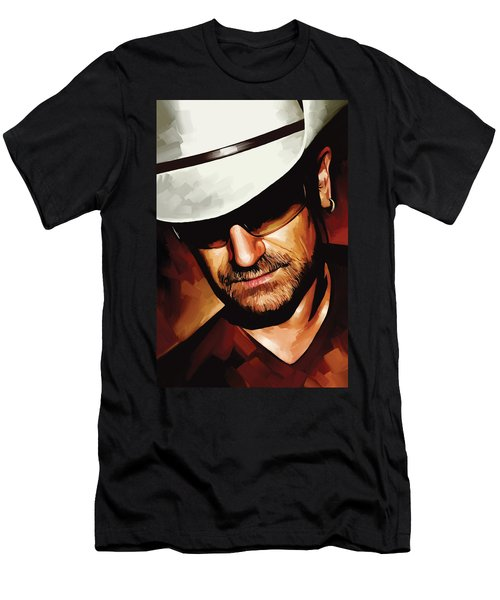 Bono U2 Artwork 3 Men's T-Shirt (Athletic Fit)