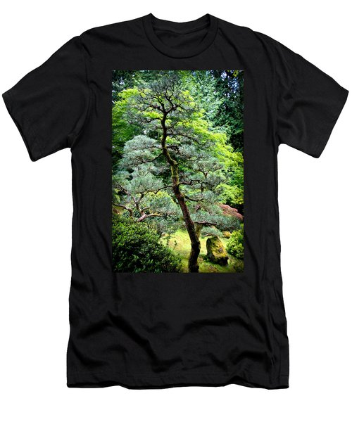 Bonsai Tree Men's T-Shirt (Slim Fit) by Athena Mckinzie