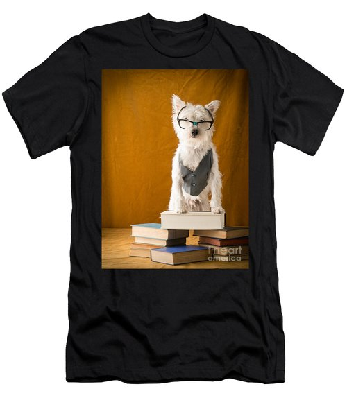 Bookish Dog Men's T-Shirt (Athletic Fit)