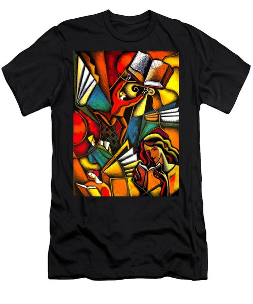 Books Men's T-Shirt (Slim Fit) by Leon Zernitsky
