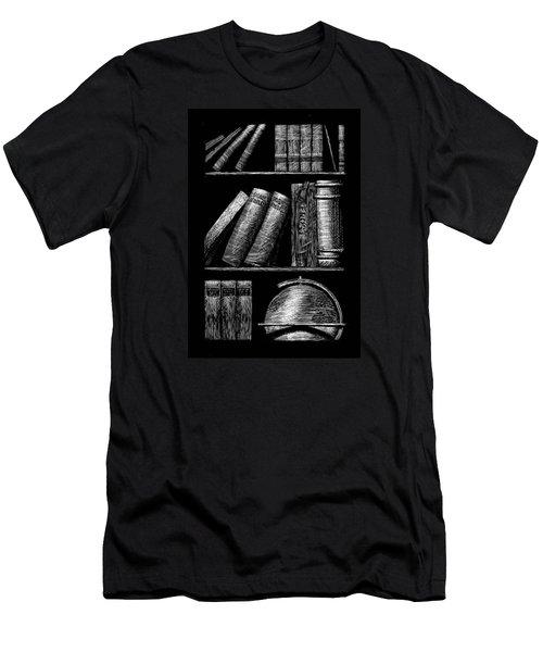 Books On Shelves Men's T-Shirt (Slim Fit)