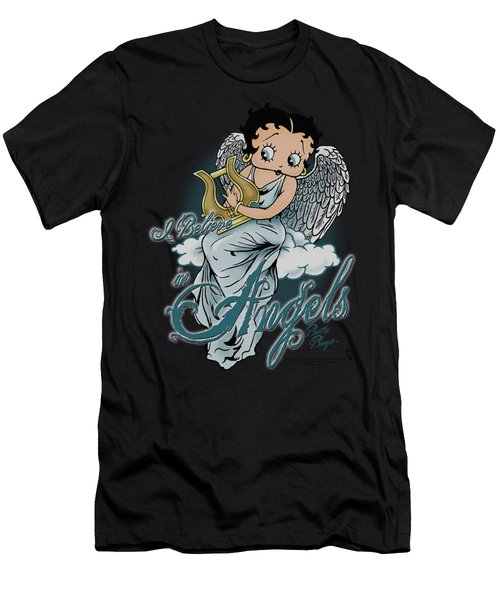 Boop - I Believe In Angels Men's T-Shirt (Athletic Fit)