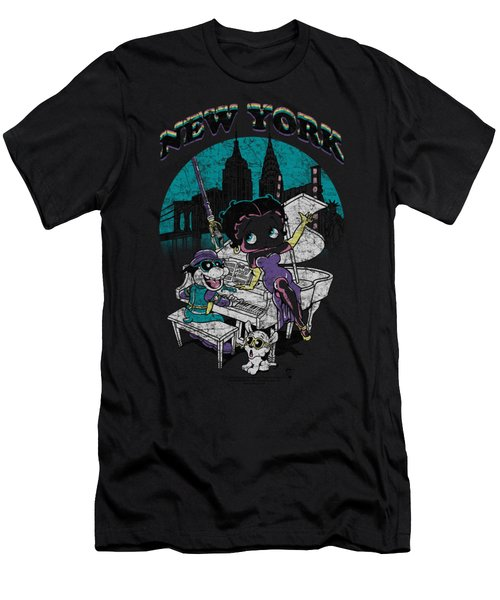 Boop - Singing In Ny Men's T-Shirt (Athletic Fit)