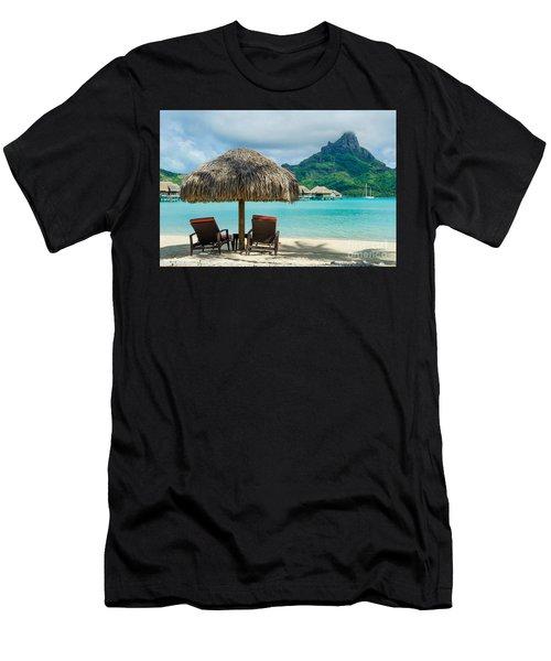 Bora Bora Beach Men's T-Shirt (Athletic Fit)