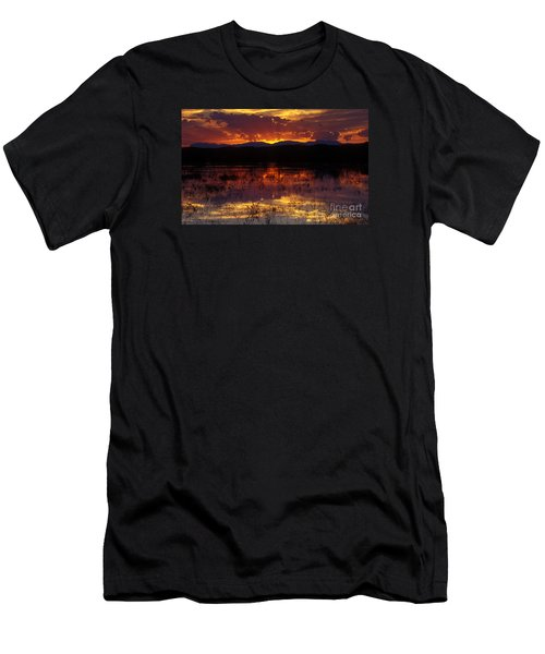 Bosque Sunset - Orange Men's T-Shirt (Athletic Fit)