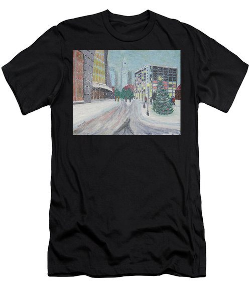 Boston First Snow Men's T-Shirt (Athletic Fit)