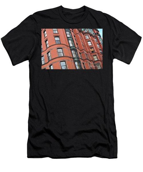 Boston Ma Building Facade Men's T-Shirt (Athletic Fit)