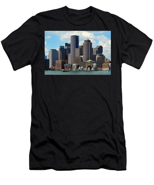 Boston Skyline Men's T-Shirt (Slim Fit) by Randi Grace Nilsberg
