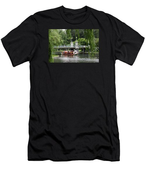 Boston Swan Boat Men's T-Shirt (Athletic Fit)
