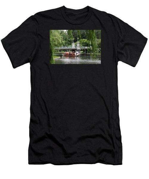 Boston Swan Boat Men's T-Shirt (Athletic Fit)