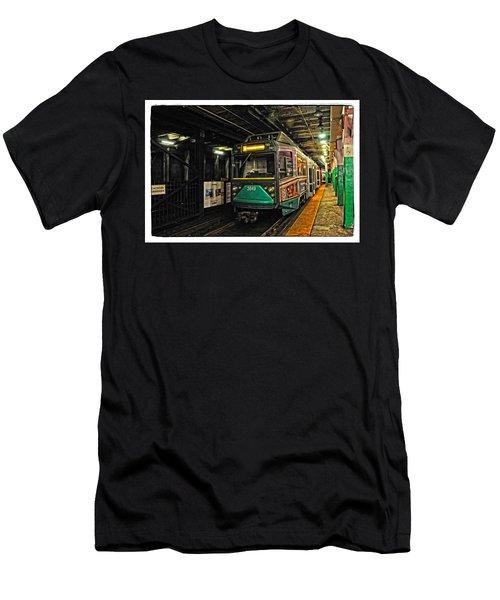 Boston's Mbta Green Line Men's T-Shirt (Slim Fit) by Mike Martin