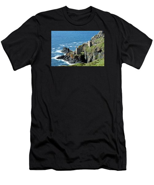 Botallack Crown Engine Houses Cornwall Men's T-Shirt (Athletic Fit)