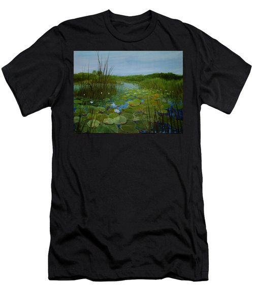 Botswana Lagoon Men's T-Shirt (Athletic Fit)