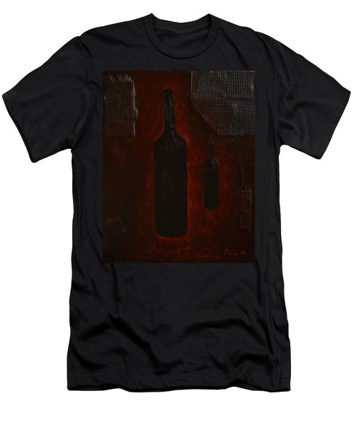 Men's T-Shirt (Slim Fit) featuring the painting Bottles by Shawn Marlow