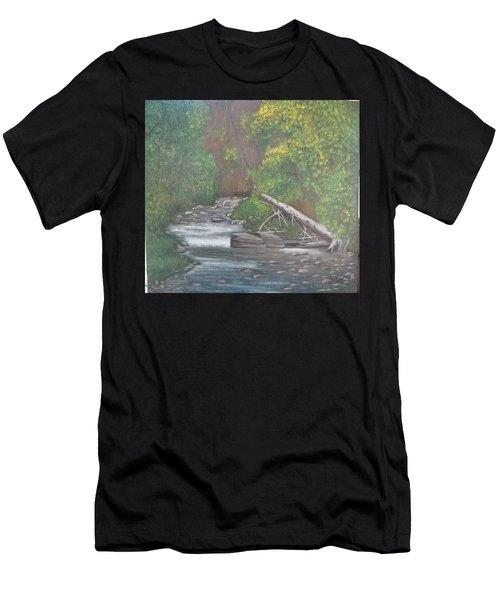 Boundary Creek  Bc Men's T-Shirt (Athletic Fit)