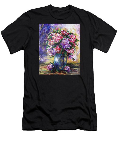 Men's T-Shirt (Slim Fit) featuring the painting Bouquet Of Scents by Vesna Martinjak