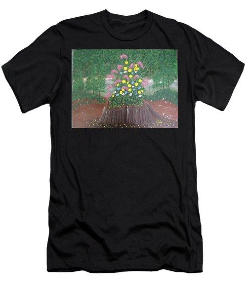 Bouquet On A Stump Men's T-Shirt (Athletic Fit)