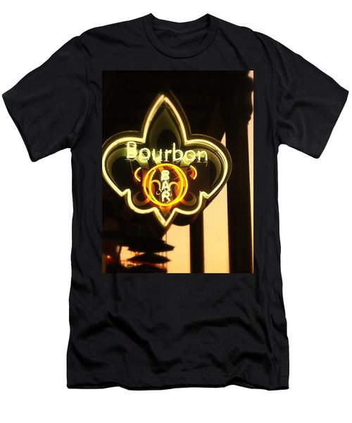 Bourbon Street Bar New Orleans Men's T-Shirt (Slim Fit) by Saundra Myles