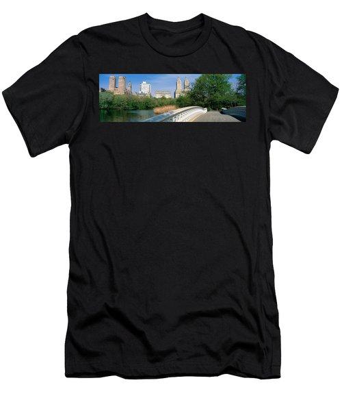 Bow Bridge, Central Park, Nyc, New York Men's T-Shirt (Athletic Fit)
