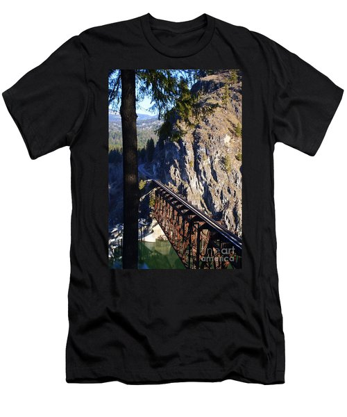 Box Canyon Dam Railroad Crossing Men's T-Shirt (Athletic Fit)