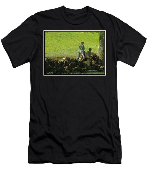 Boys Will Be Boys Men's T-Shirt (Slim Fit) by Kathy Barney